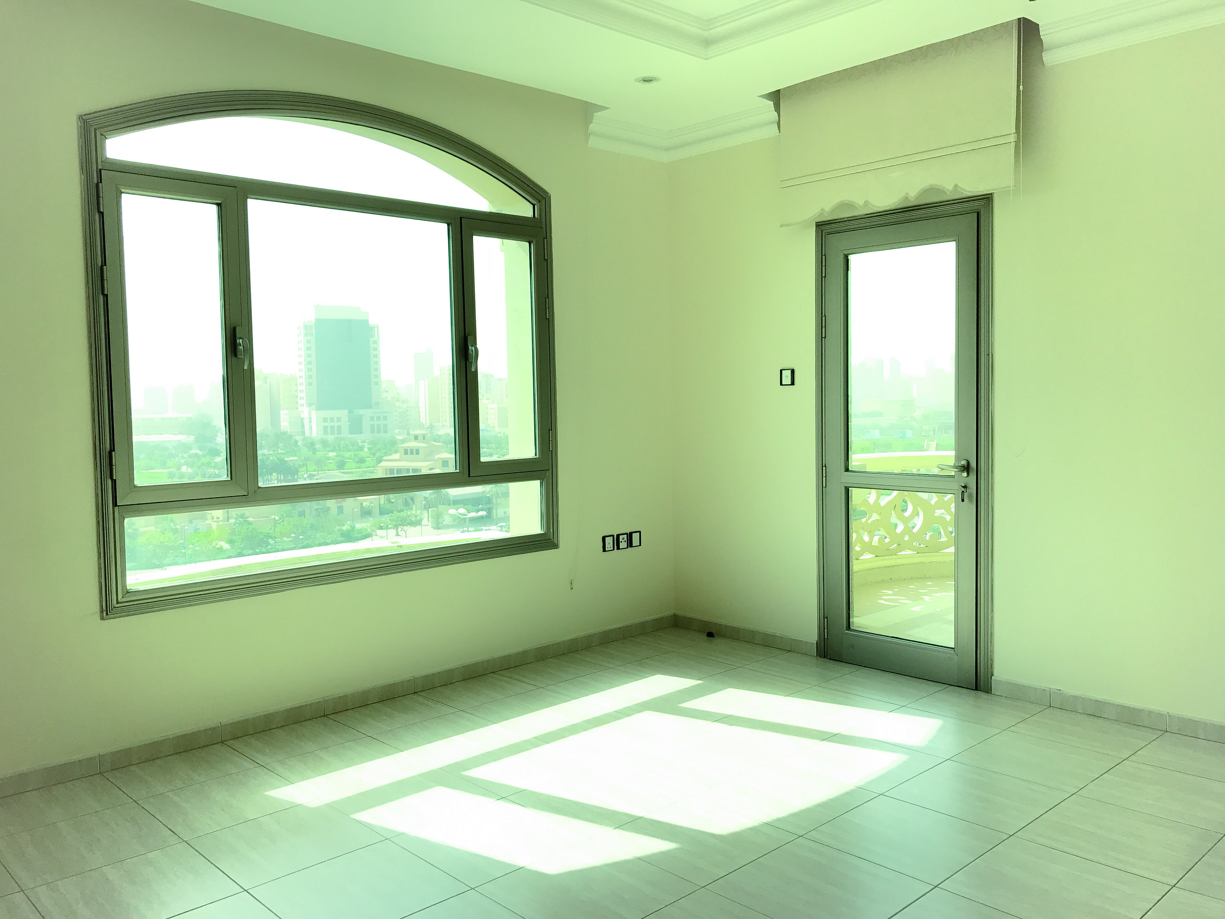 Three bedroom apartment with balcony for rent in salmiya kuwait properties flats and villas for Three bedrooms apartment for rent